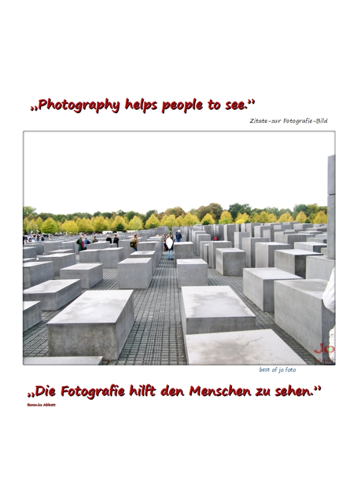 """Photography helps people to see."""