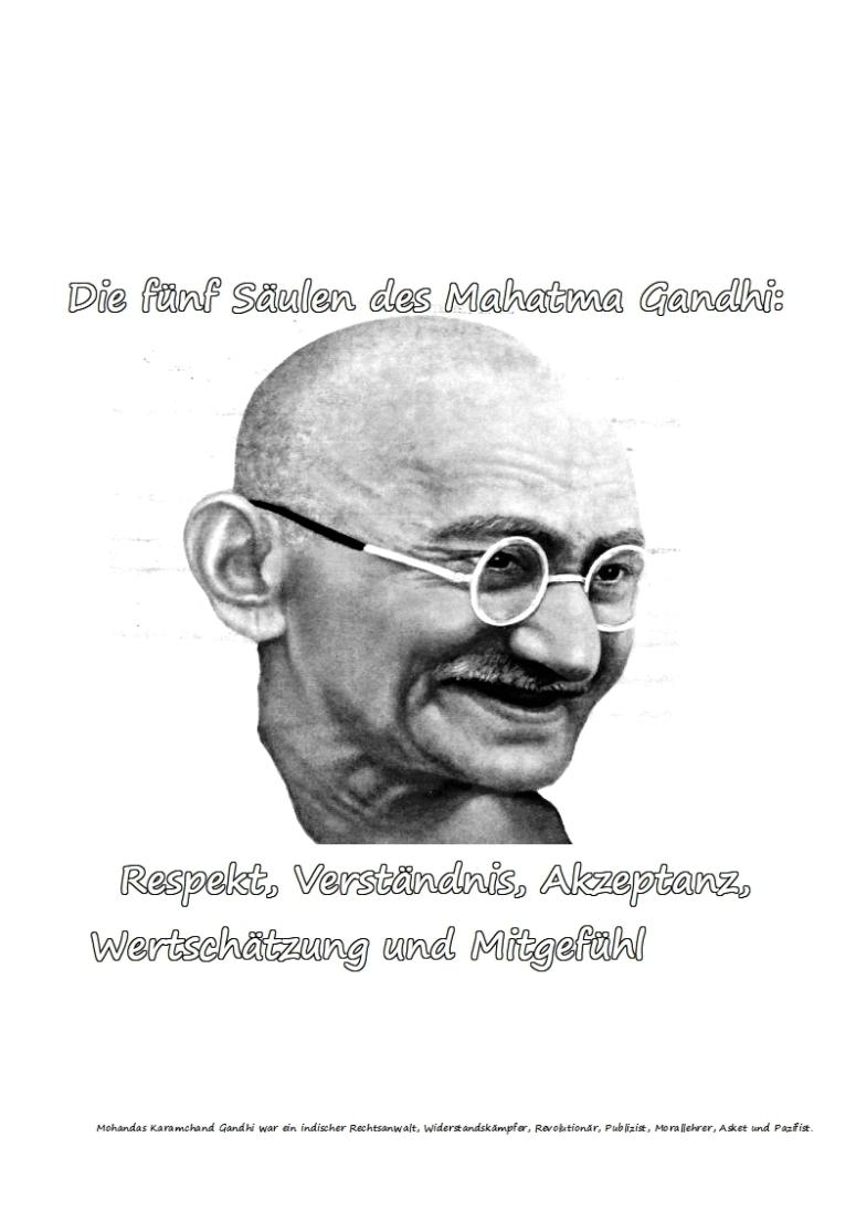 Die fünf Säulen des Mahatma Gandhi
