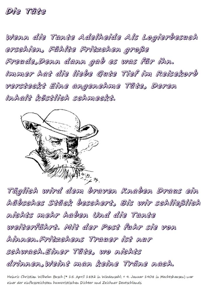 """Fritzchen -""""Die Tüte""""+ dieTante"""
