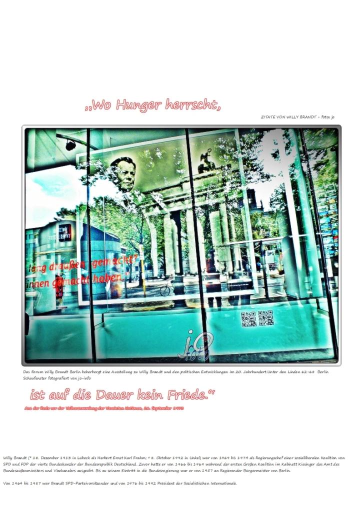 """""""Wo Hunger herrscht,"""