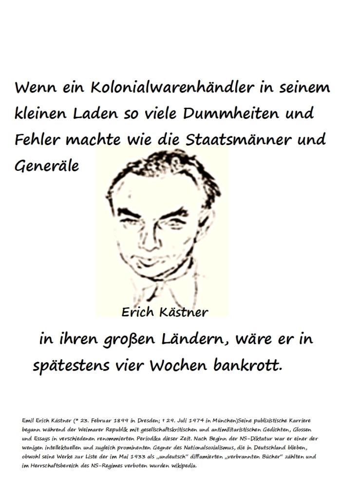 Der Kolonialwarenhändler…..